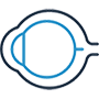 Icon of the profile of an eye to represent the Retinal photography services we offer in vaughan